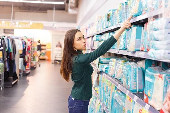 oświetlenie led w supermarkecie
