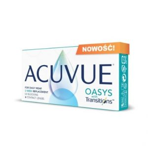 NOWOŚĆ ACUVUE OASYS WITH TRANSITIONS™ - 6 SOCZEWEK
